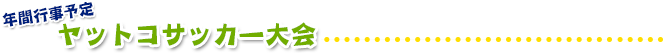 ヤットコサッカー大会